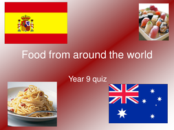 food from around the world quiz presentation by hj9045 teaching