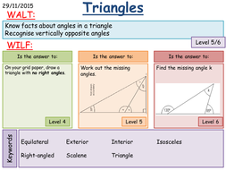 ks3 angles in triangles by mathsbyfintan teaching resources tes