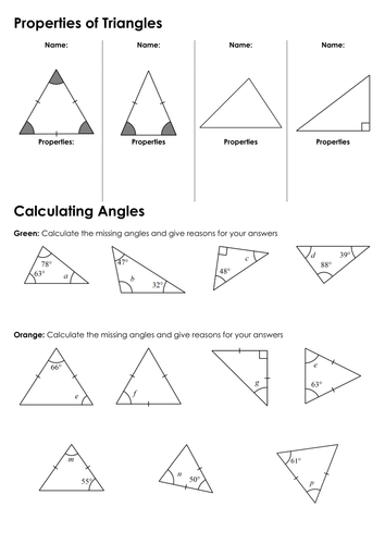 KS3: Angles in Triangles by fintansgirl - Teaching Resources - Tes