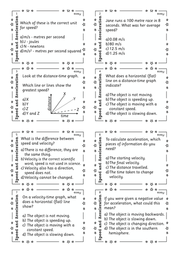 Worksheets Speed Velocity Acceleration Worksheet speed and acceleration task cards by pauljcg teaching resources p2 1 worksheet pdf