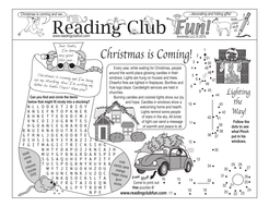 Bundle: Christmas is Coming Activity Page and Puzzle