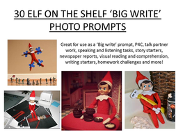 ELF ON THE SHELF big write prompts