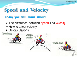 speed and velocity physics by teacher rambo teaching resources tes