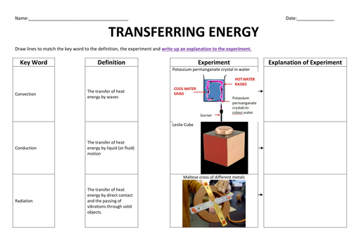 Convection Conduction Radiation Worksheet Photos - Beatlesblogcarnival