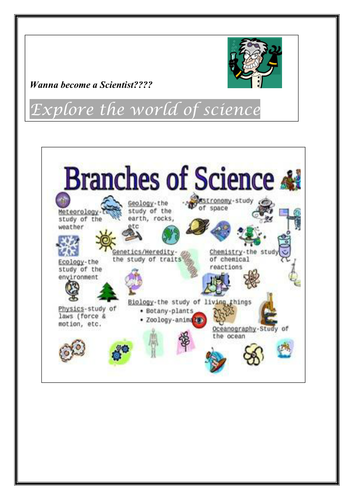 Printables Branches Of Science Worksheet science class room display branches of by scienceamb teaching resources tes
