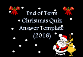 Fun Time Filler Christmas Quiz 2016 by PollyPuddleduck - Teaching ...