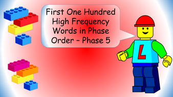 first-100-high-frequency-words-lego-theme---phase-order---phase-5.pptx