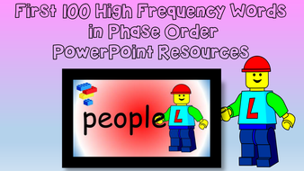 First Hundred High Frequency Words in Phase Order
