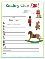 Toys and Joys of Christmas Reading Log and Certificate Set