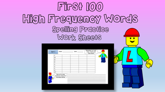 High Frequency Words: 10 Spelling Practice Worksheets