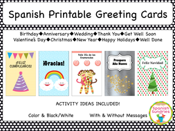 Spanish Greeting Cards By Sombra1230