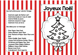 French christmas cards to colour by betsybelleteach teaching french christmas cards to colour m4hsunfo