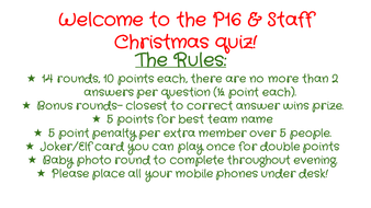 Massive End of Year/General Knowledge & Christmas quiz! Loads of different rounds! | Teaching ...