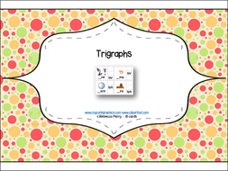 Phonics Read and Clip – Trigraphs – Phonics & Fine Motor Skills (18 cards) - Letters and Sounds