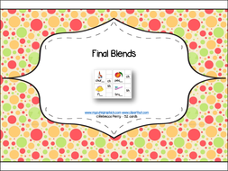Phonics Read and Clip – Final Blends – Phonics & Fine Motor Skills (52 cards) - Letters and Sounds
