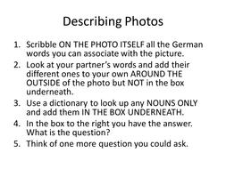GCSE German Speaking Picture Stimulus
