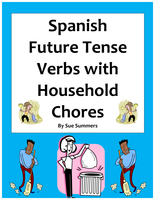 spanish future tense verbs chores around the house by suesummersshop uk teaching resources tes. Black Bedroom Furniture Sets. Home Design Ideas