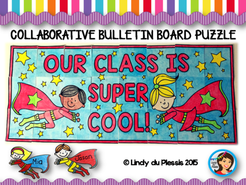 Top Resolutions: Collaborative Class Bulletin Board: Superhero Theme