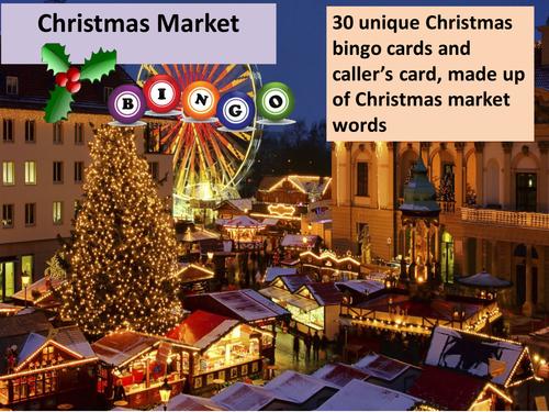 Christmas Market Bingo