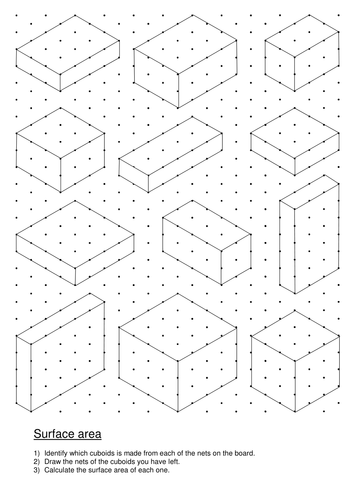nets of cuboids and surface area lesson and worksheet by mrwhy1089 teaching resources tes. Black Bedroom Furniture Sets. Home Design Ideas