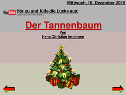 Andersen Der Tannenbaum.German Christmas Story Der Tannenbaum By Hans Christian Andersen