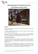 Film-The Merchant of Venice: Silent Shakespeare