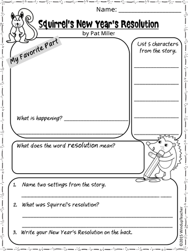 New Years Resolution Activities] New Years Worksheets And ...