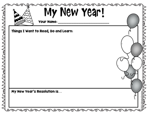 Squirrel's New Year's Resolution Activity Sheets *Print ...