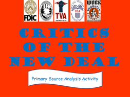 The Great Depression Critics Of The New Deal Primary Source