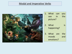 Modal and imperative verbs Peter Pan KS3