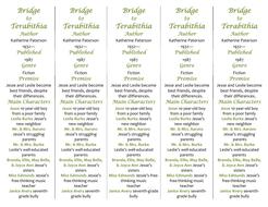 Bridge to Terabithia ed  of Bookmarks Plus—Great