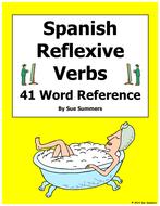 Spanish Reflexive Verbs 41 Spanish Infinitives Word List