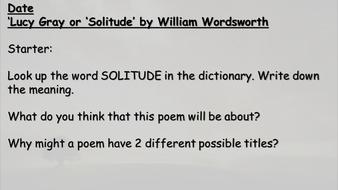 lucy grey poem summary