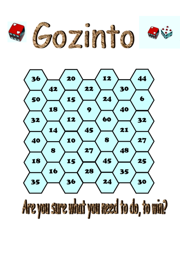 Table Learning Games by GazzaM - Teaching Resources - Tes