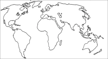 Continental drift theory by lcharlotte9 teaching resources tes blank map of the worldg gumiabroncs Image collections
