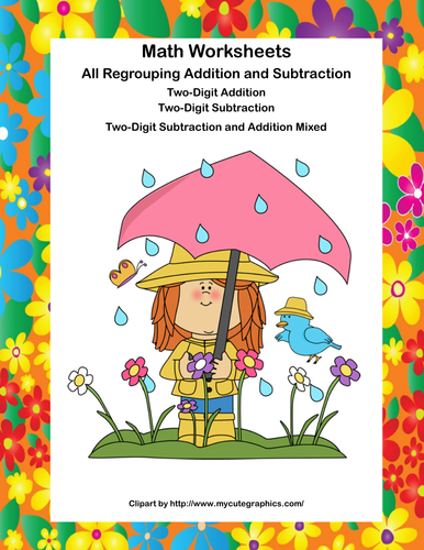Math Worksheets-All Regrouping Addition and Subtraction-Ages 7-8 ...