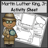 Martin Luther King Activity Sheet
