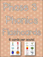 Phase 3 Phonics Flashcards - Print, Laminate, Go! Letters and Sounds! Clear & Colourful Resource!