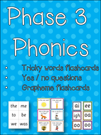 Phase 3 Phonics - Tricky Words Flashcards - Yes&No Cards - Grapheme Flashcards