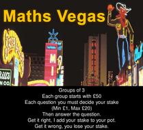 Maths Vegas Revision Game - Samples