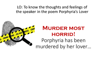 Porphyria's Lover poem by Robert Browning