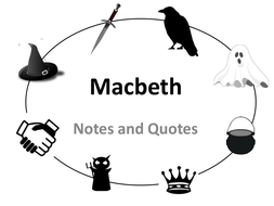 Macbeth Notes and Quotes Revision Booklet by LAPJ