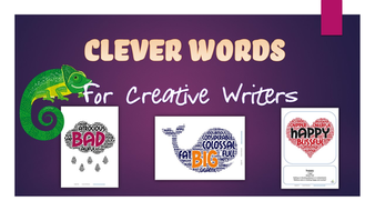 Eye Catching Synonym Posters CLEVER Words For Creative Writers