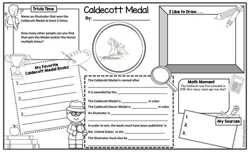 Caldecott Medal Activity Poster Sheets By Windupteacher