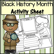 Black History Month Activity Sheet