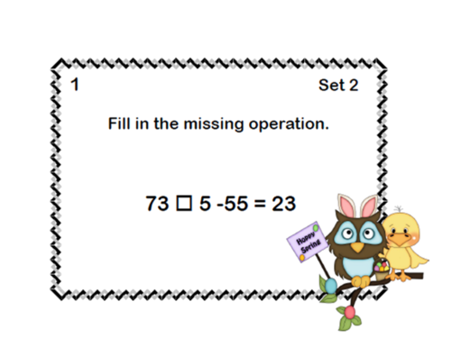 order of operations task cards pdf