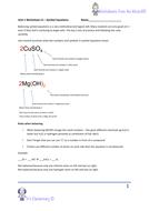AQA 9-1 GCSE chemistry - Unit 1 - Lesson 5 balancing ...