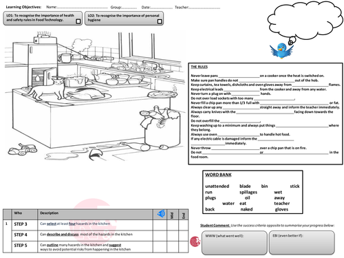 Food Technology Health and Safety Lesson Plan by simmika – Food Safety Worksheets
