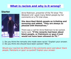 Racism PSHE / Citizenship Lesson