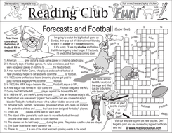 Groundhog Day and Football Two-Page Activity Set